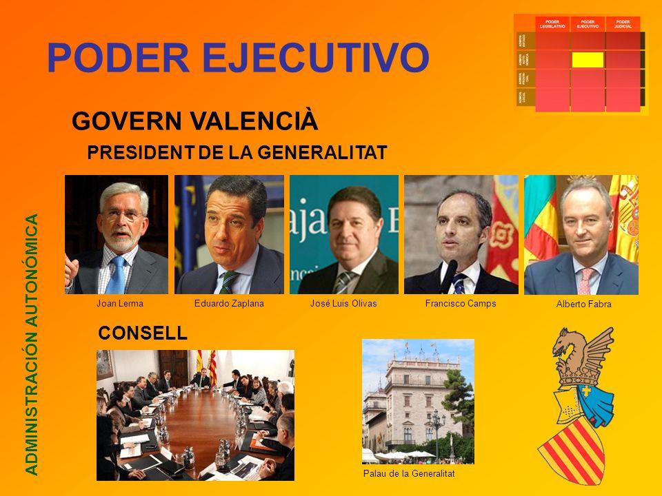 PODER EJECUTIVO GOVERN VALENCIÀ PRESIDENT DE LA GENERALITAT CONSELL