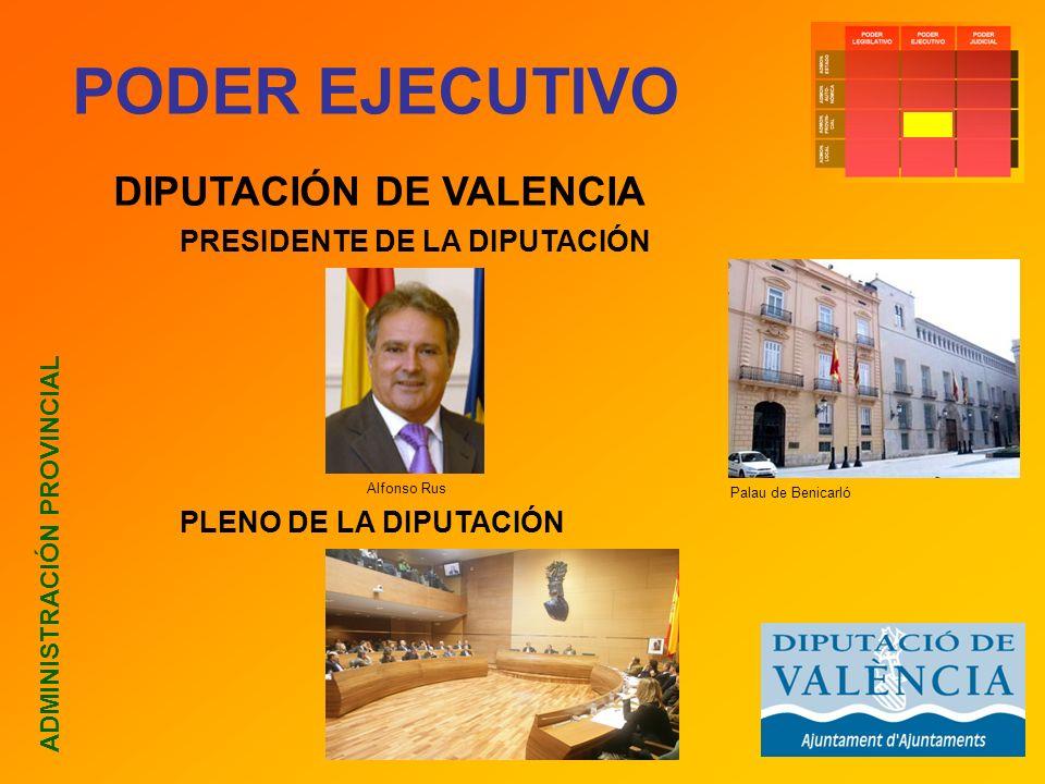 PODER EJECUTIVO DIPUTACIÓN DE VALENCIA PRESIDENTE DE LA DIPUTACIÓN