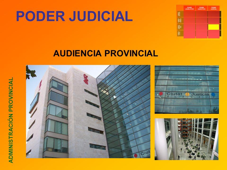 PODER JUDICIAL AUDIENCIA PROVINCIAL ADMINISTRACIÓN PROVINCIAL