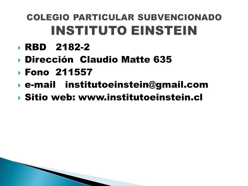 COLEGIO PARTICULAR SUBVENCIONADO INSTITUTO EINSTEIN