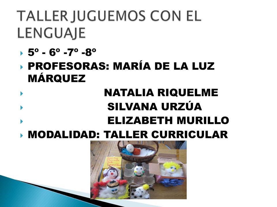 TALLER JUGUEMOS CON EL LENGUAJE