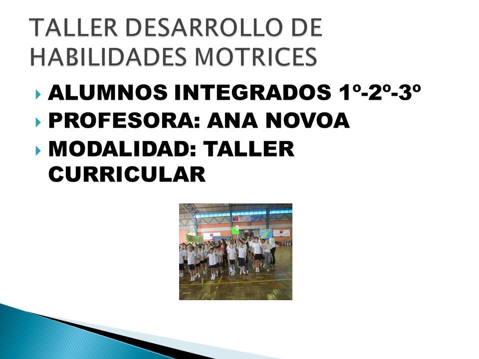 TALLER DESARROLLO DE HABILIDADES MOTRICES