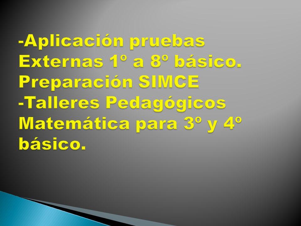 -Aplicación pruebas Externas 1º a 8º básico