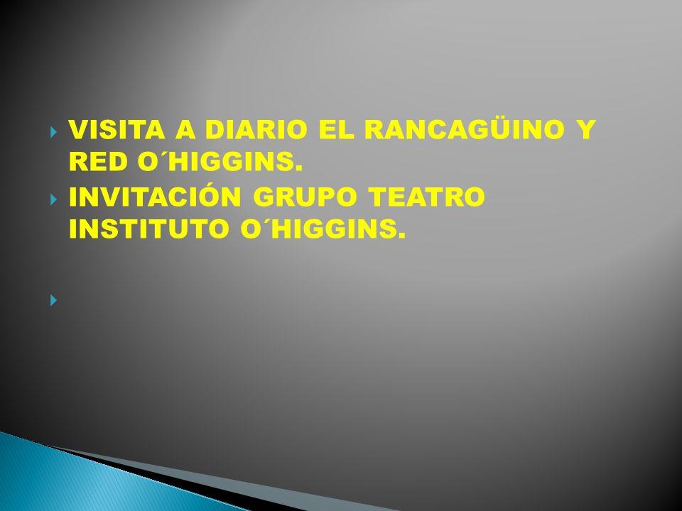 VISITA A DIARIO EL RANCAGÜINO Y RED O´HIGGINS.