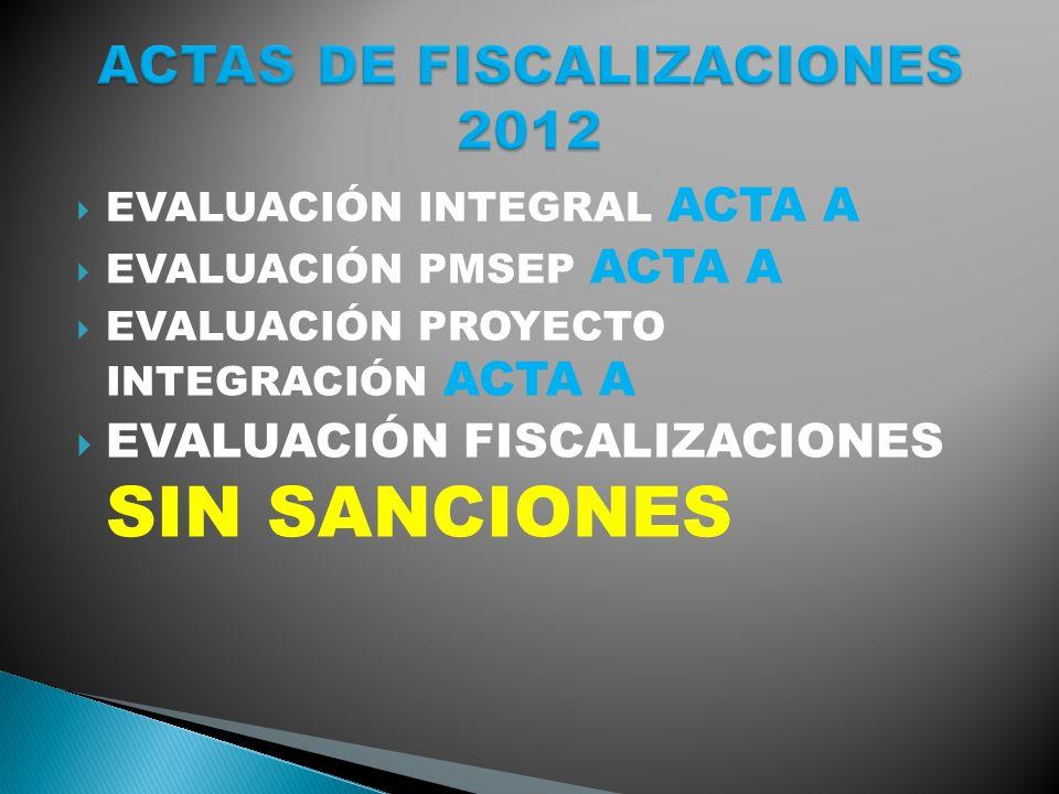 ACTAS DE FISCALIZACIONES 2012