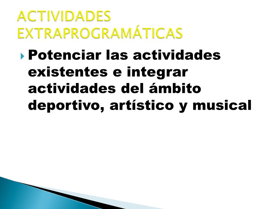 ACTIVIDADES EXTRAPROGRAMÁTICAS