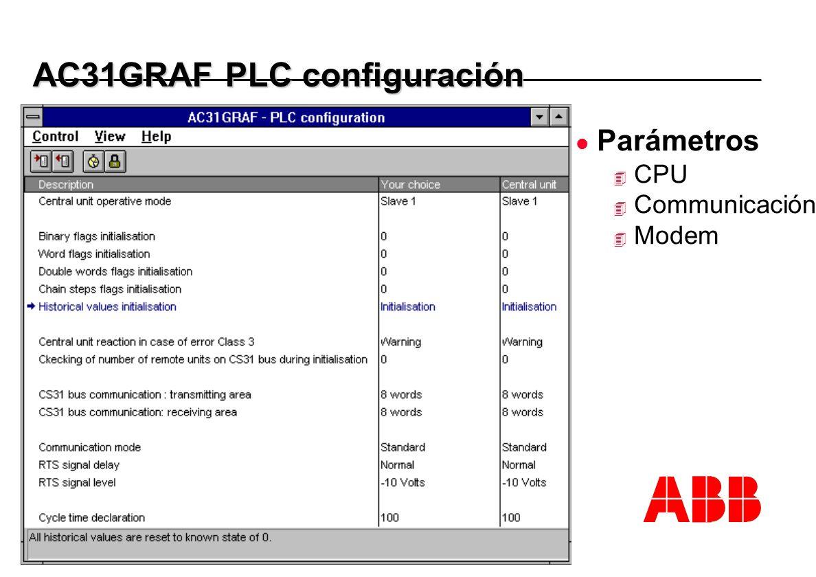 AC31GRAF PLC configuración