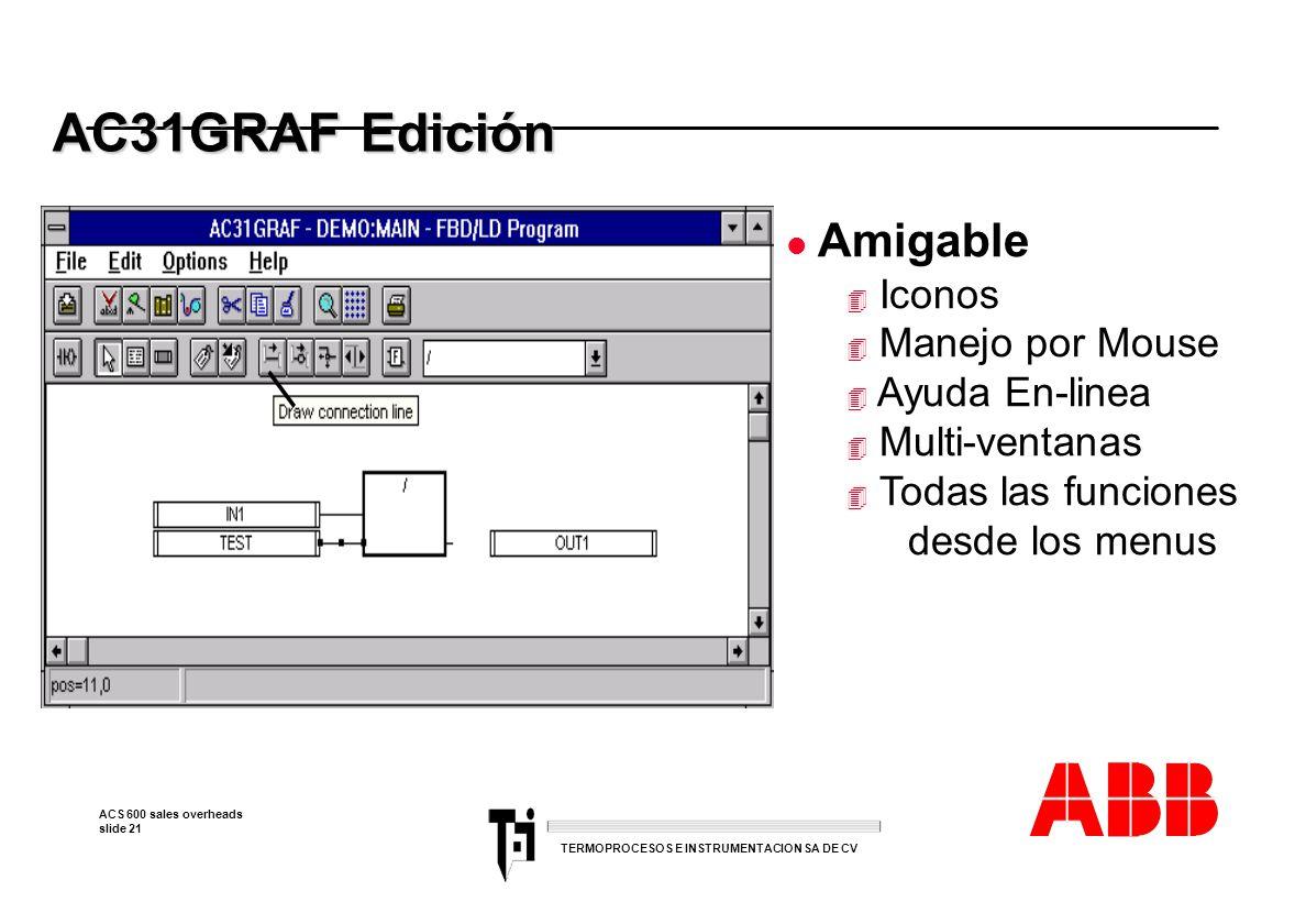 AC31GRAF Edición Amigable Iconos Manejo por Mouse Ayuda En-linea