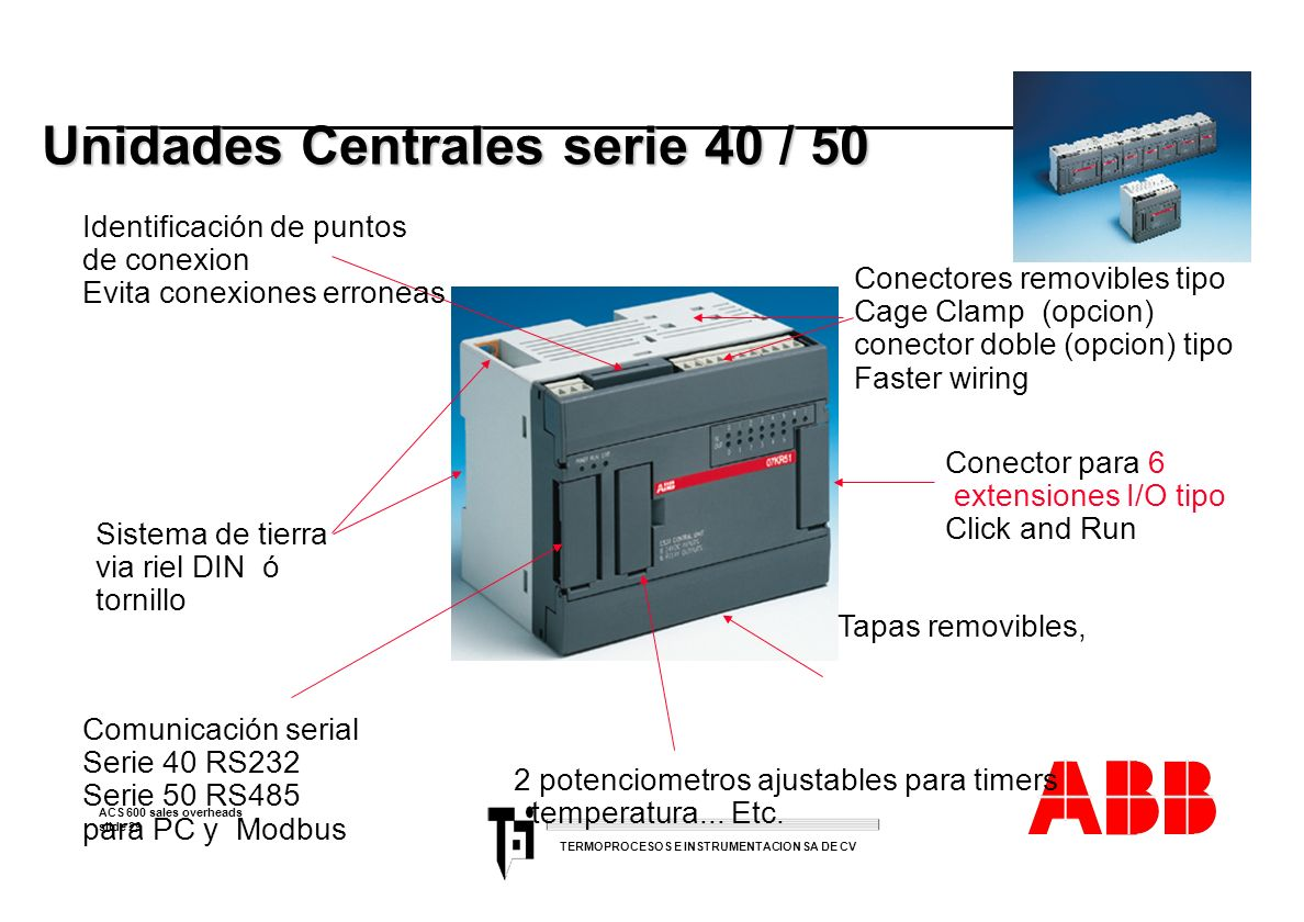 Unidades Centrales serie 40 / 50