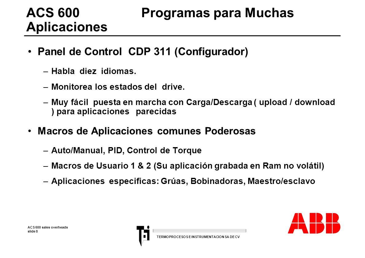 ACS 600 Programas para Muchas Aplicaciones