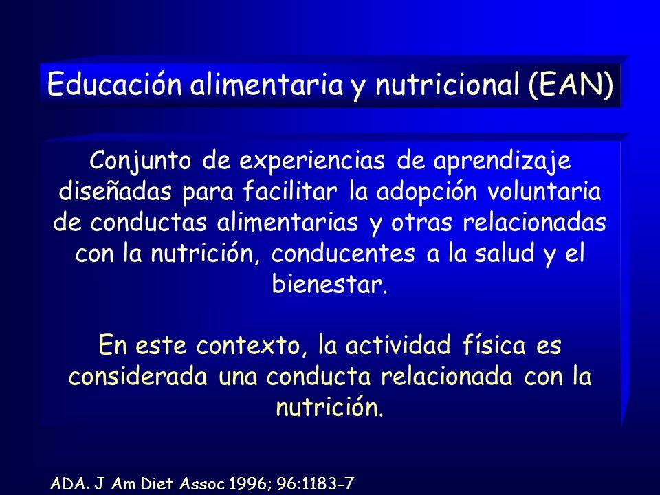 Educación alimentaria y nutricional (EAN)