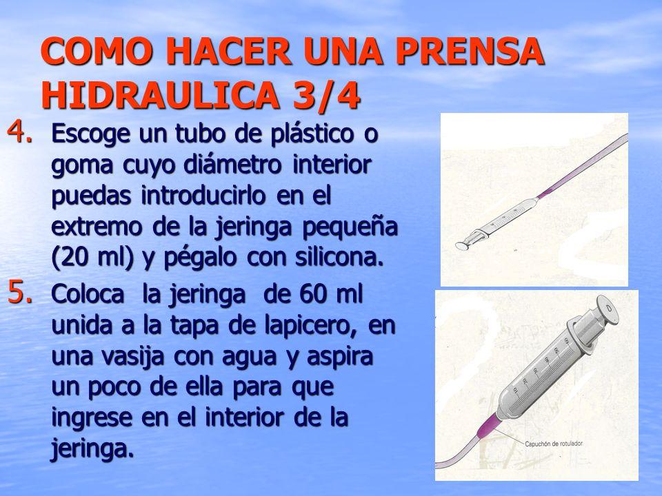 COMO HACER UNA PRENSA HIDRAULICA 3/4