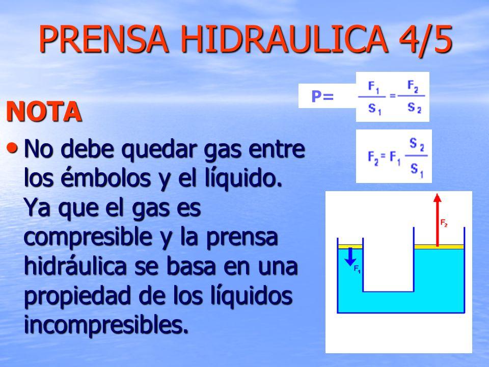 PRENSA HIDRAULICA 4/5 NOTA