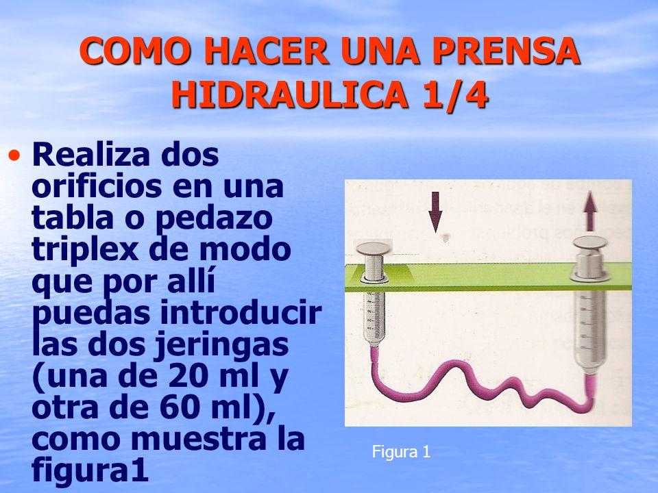 COMO HACER UNA PRENSA HIDRAULICA 1/4