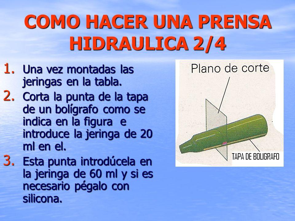 COMO HACER UNA PRENSA HIDRAULICA 2/4