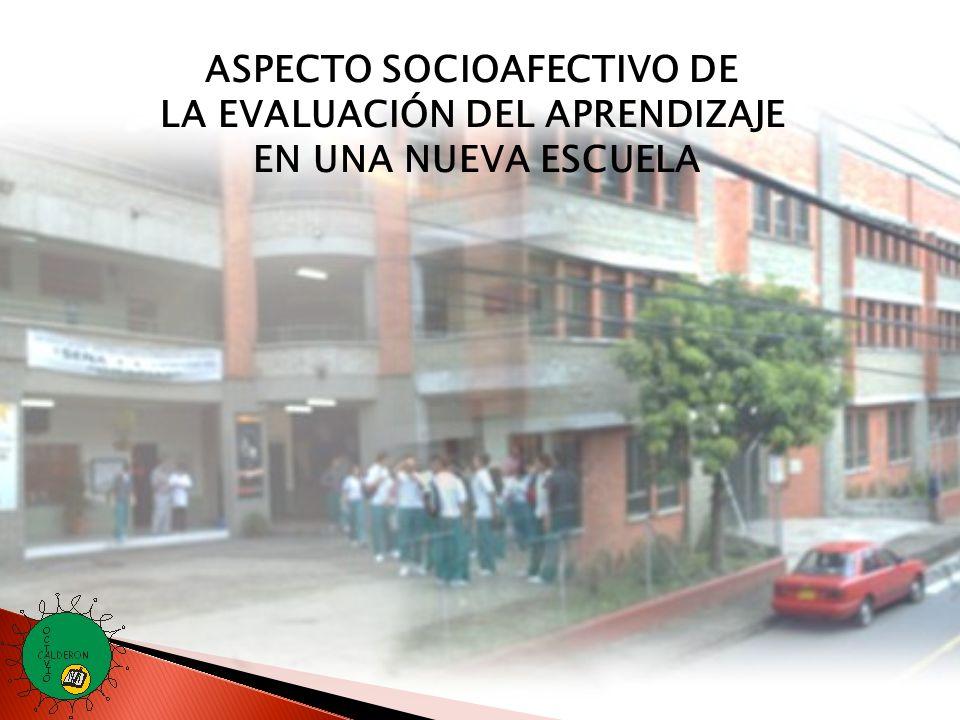 ASPECTO SOCIOAFECTIVO DE LA EVALUACIÓN DEL APRENDIZAJE