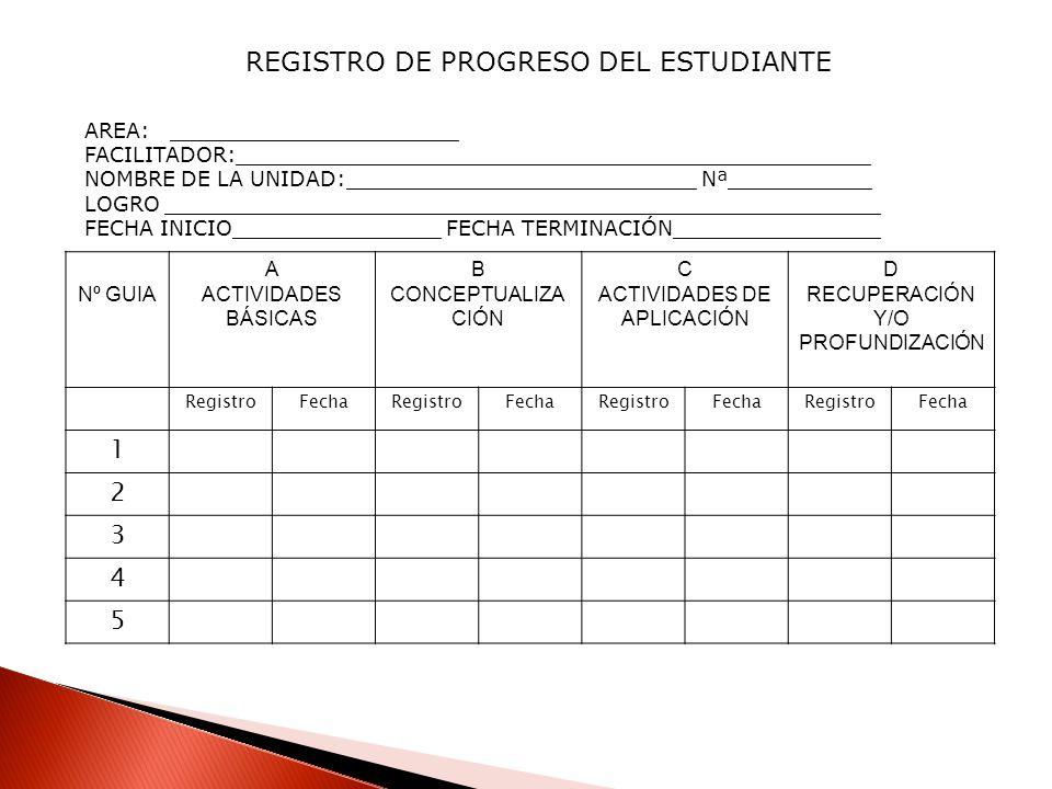 REGISTRO DE PROGRESO DEL ESTUDIANTE