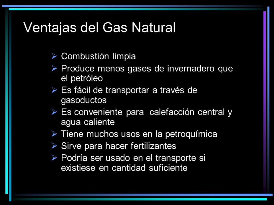 Ventajas del Gas Natural