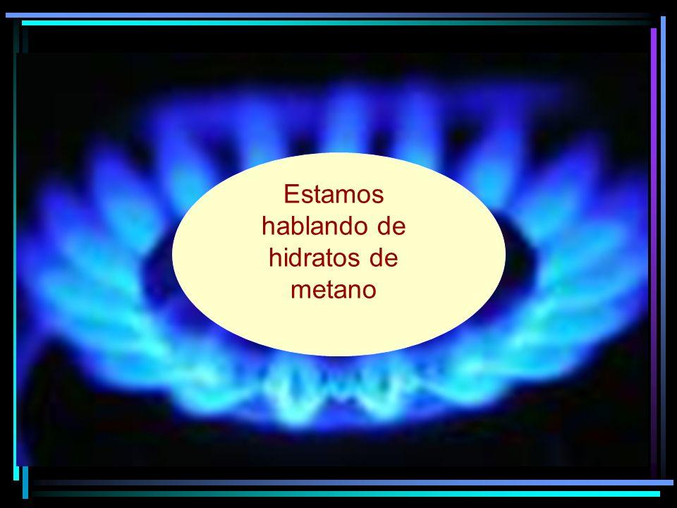 Estamos hablando de hidratos de metano