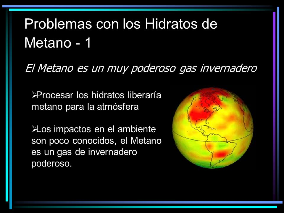 Problemas con los Hidratos de Metano - 1