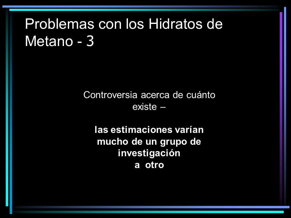 Problemas con los Hidratos de Metano - 3