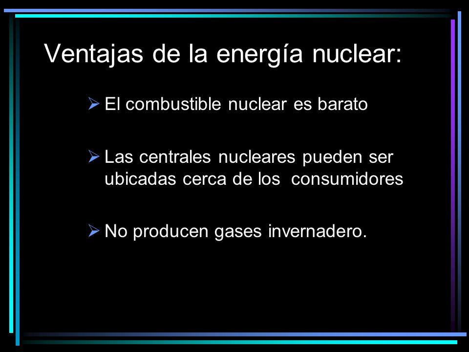 Ventajas de la energía nuclear:
