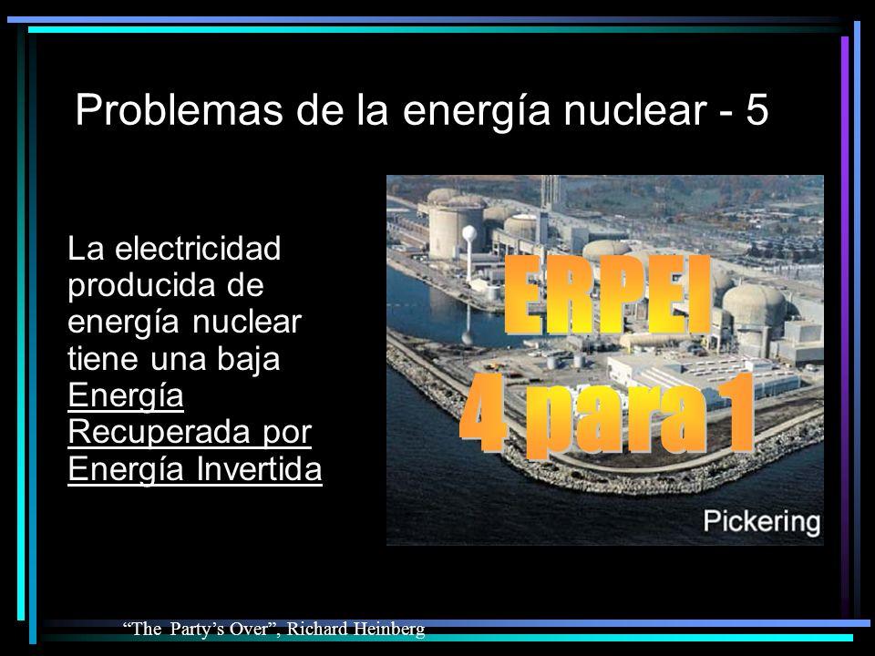 Problemas de la energía nuclear - 5