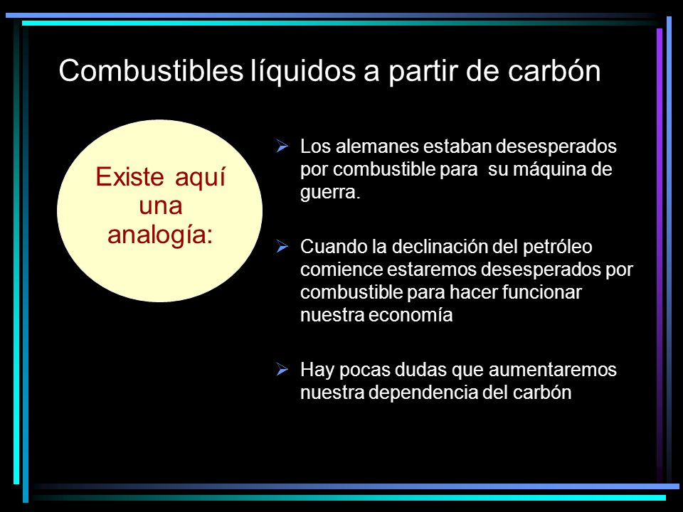 Combustibles líquidos a partir de carbón