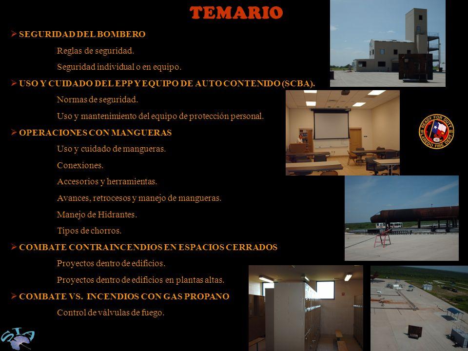 TEMARIO SEGURIDAD DEL BOMBERO Reglas de seguridad.