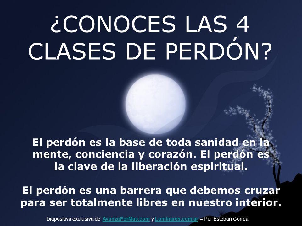 ¿CONOCES LAS 4 CLASES DE PERDÓN