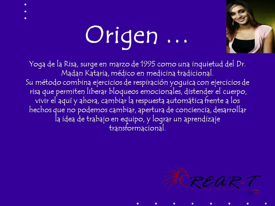 Origen … Yoga de la Risa, surge en marzo de 1995 como una inquietud del Dr. Madan Kataria, médico en medicina tradicional.