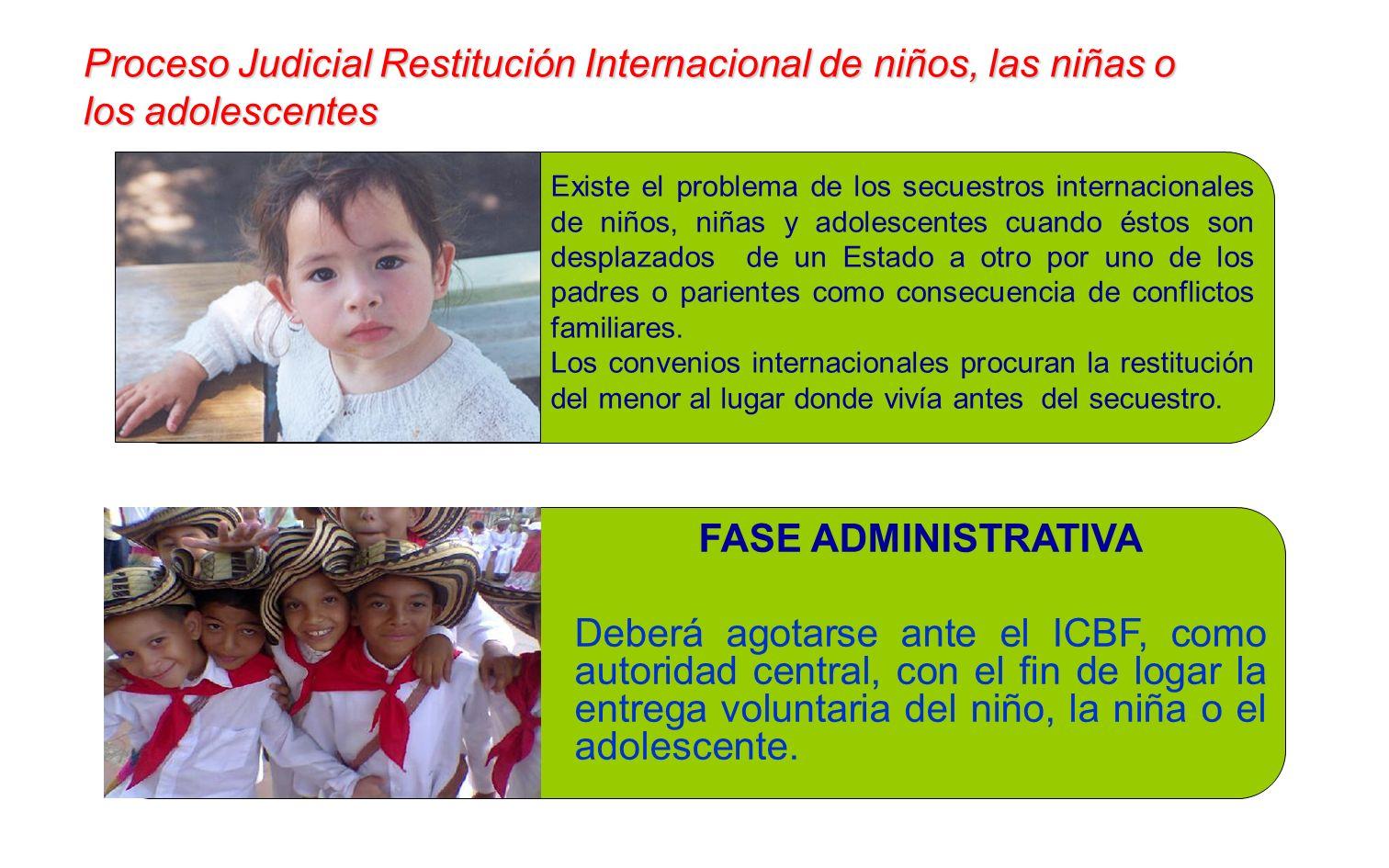 Proceso Judicial Restitución Internacional de niños, las niñas o los adolescentes