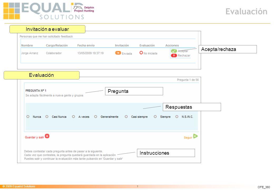 Evaluación Invitación a evaluar Acepta/rechaza Evaluación Pregunta