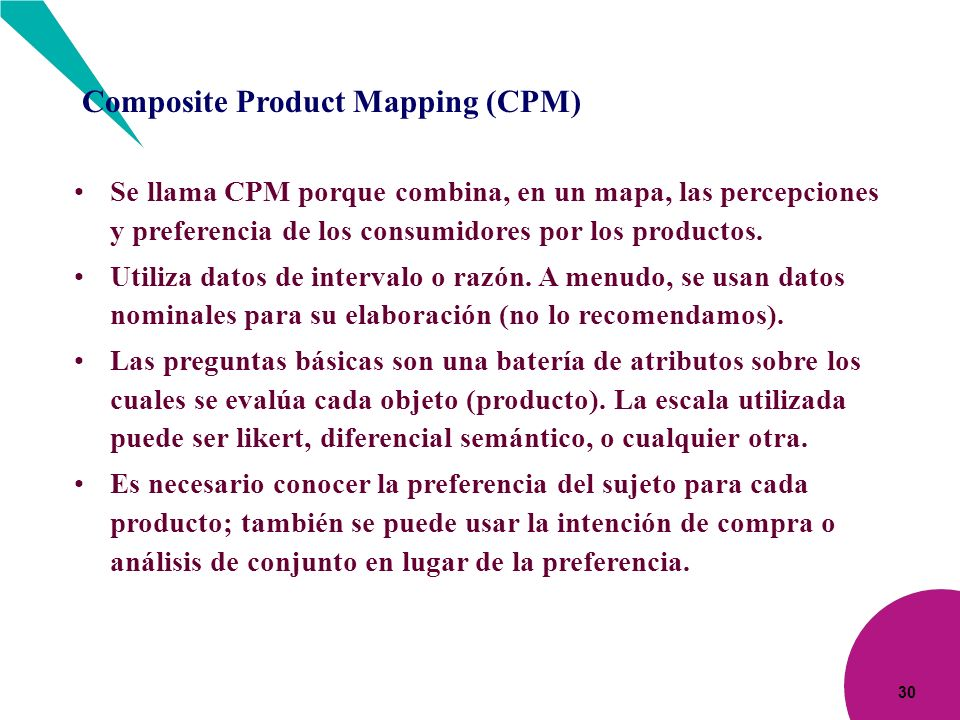 Composite Product Mapping (CPM)