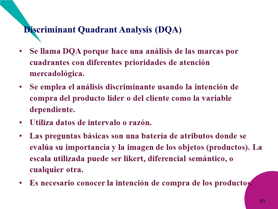 Discriminant Quadrant Analysis (DQA)
