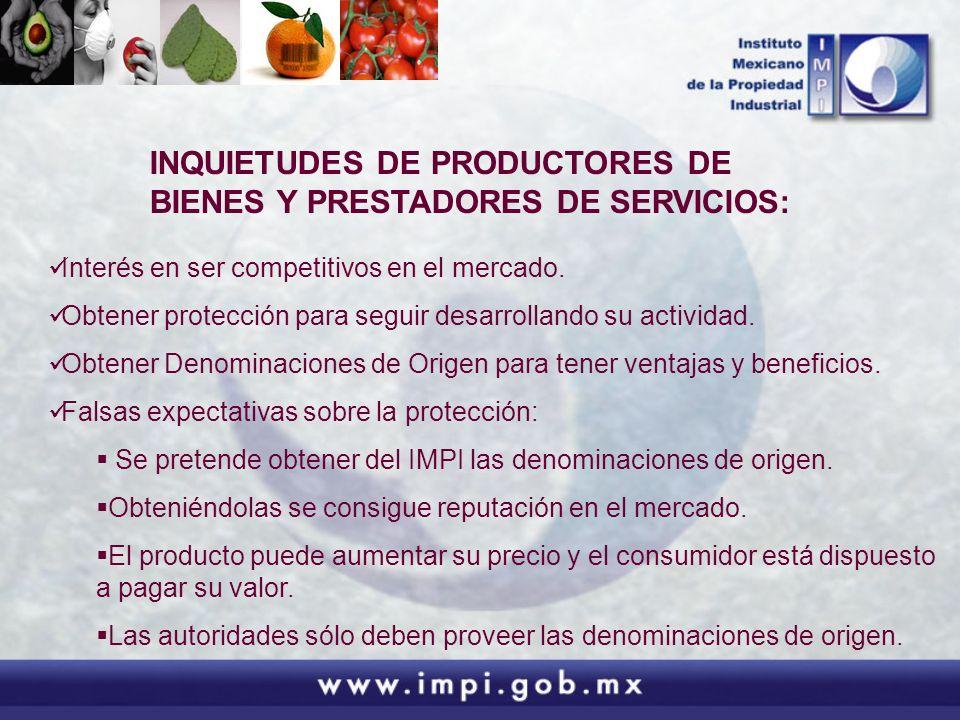 INQUIETUDES DE PRODUCTORES DE BIENES Y PRESTADORES DE SERVICIOS: