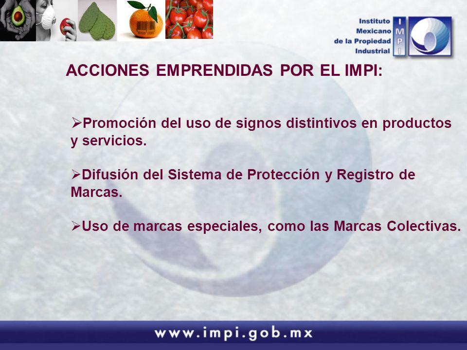 ACCIONES EMPRENDIDAS POR EL IMPI: