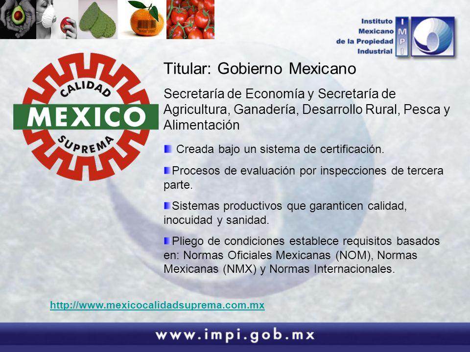Titular: Gobierno Mexicano