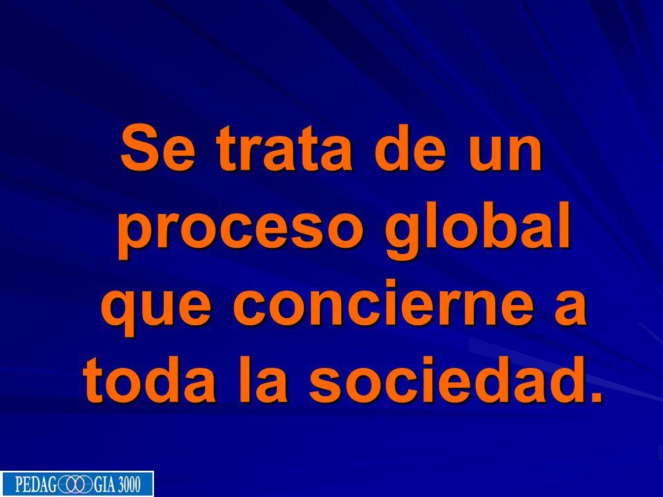 Se trata de un proceso global que concierne a toda la sociedad.