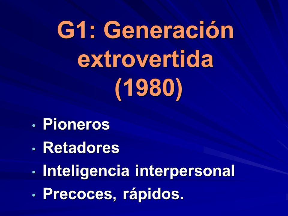 G1: Generación extrovertida (1980)