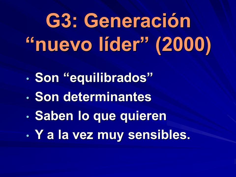 G3: Generación nuevo líder (2000)