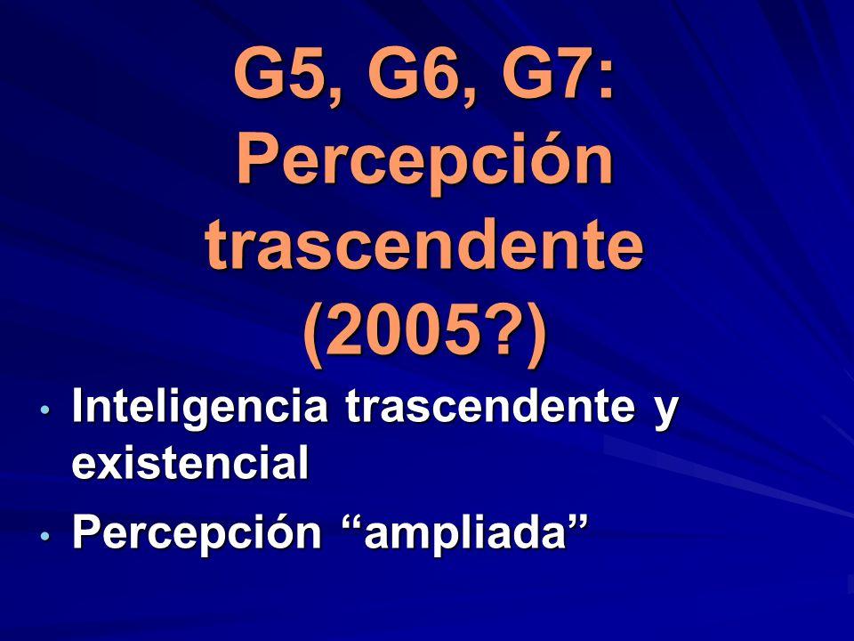 G5, G6, G7: Percepción trascendente (2005 )