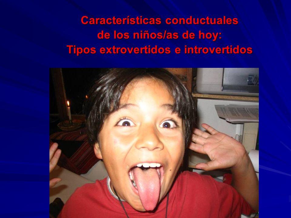 Características conductuales Tipos extrovertidos e introvertidos