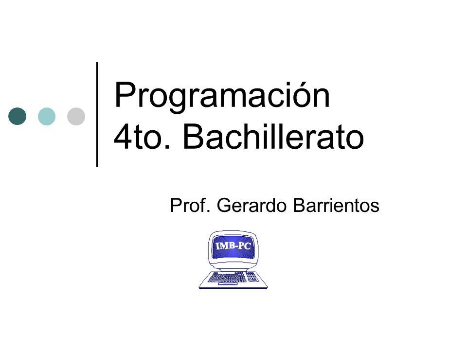 Programación 4to. Bachillerato