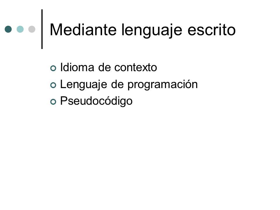 Mediante lenguaje escrito