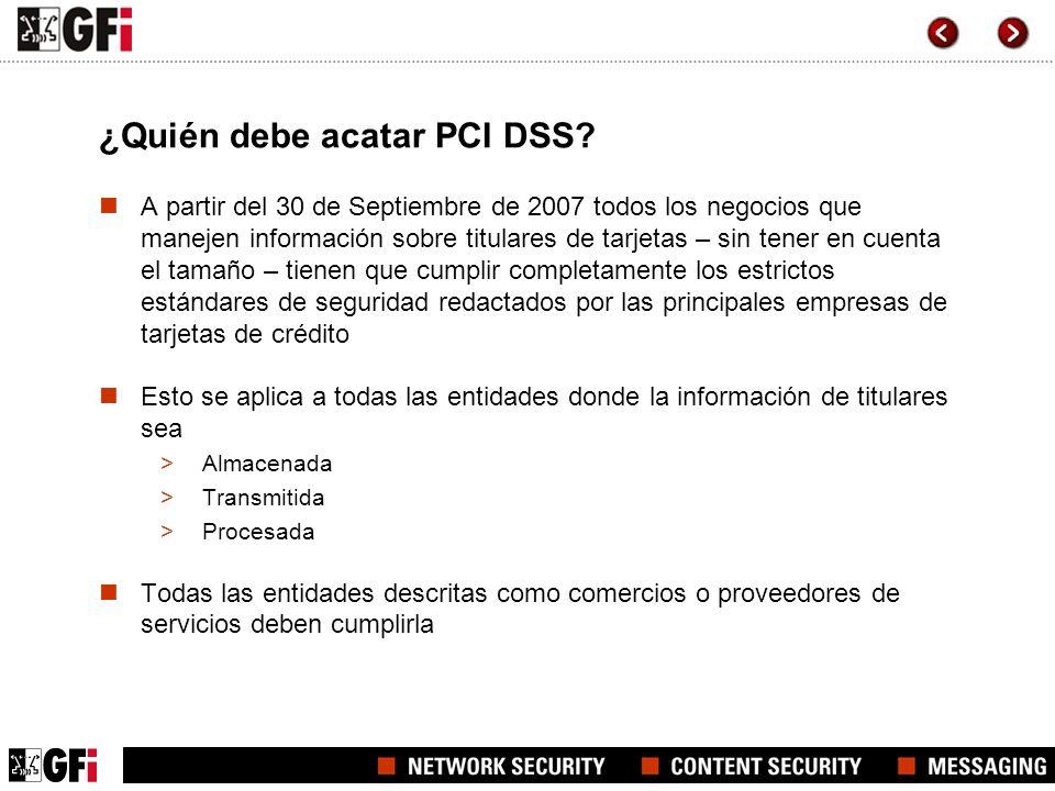 ¿Quién debe acatar PCI DSS