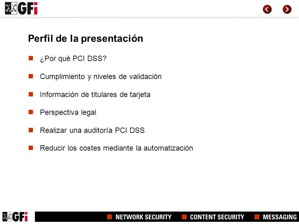 Perfil de la presentación