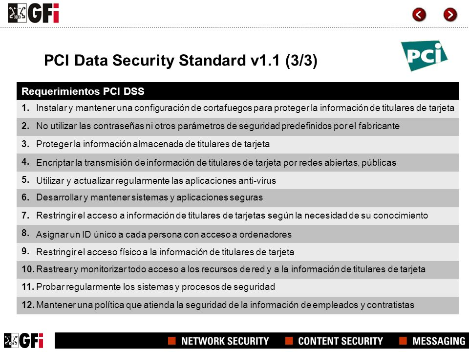 PCI Data Security Standard v1.1 (3/3)
