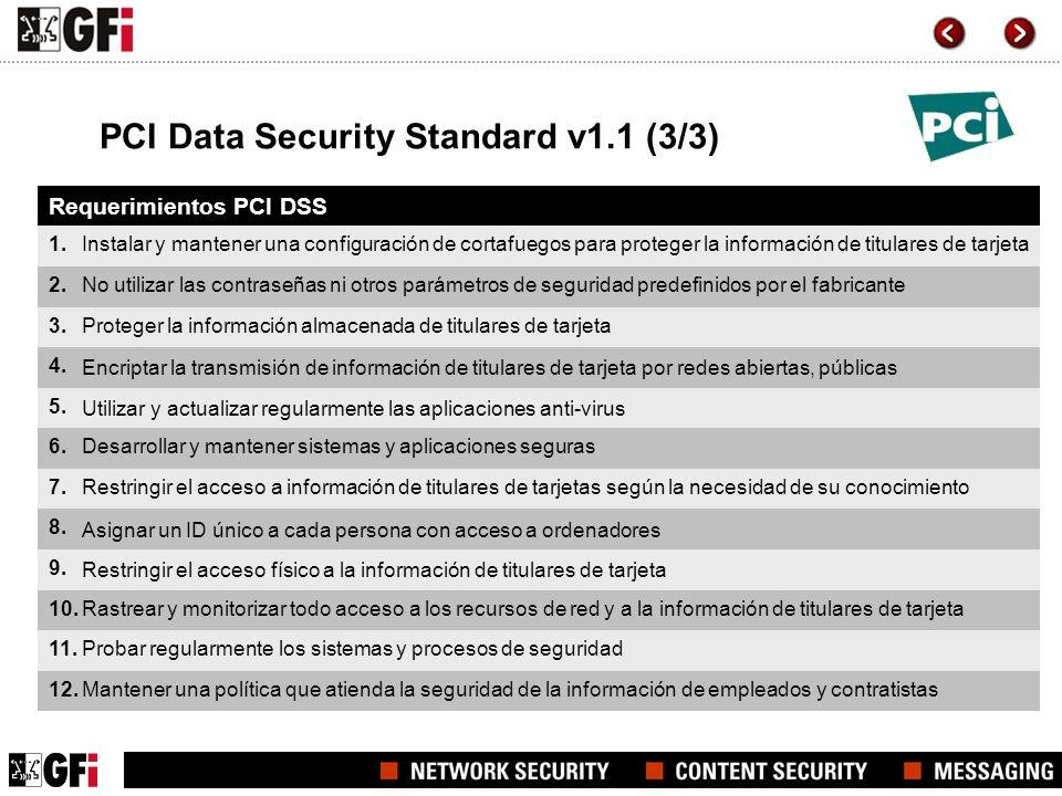 PCI Data Security Standard v1.1 (3/3)