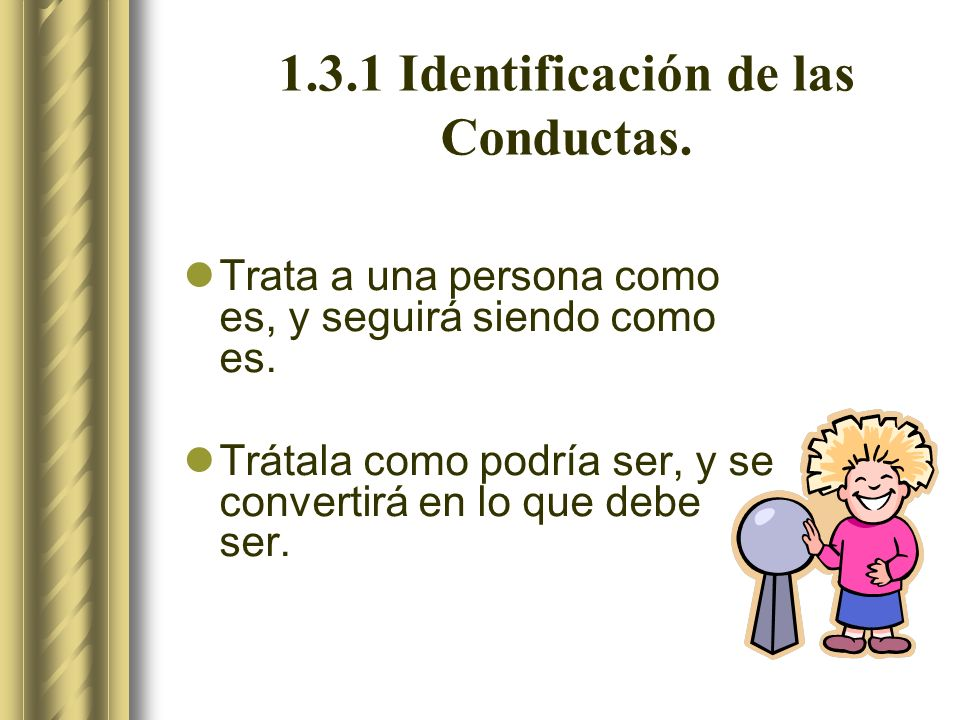 1.3.1 Identificación de las Conductas.